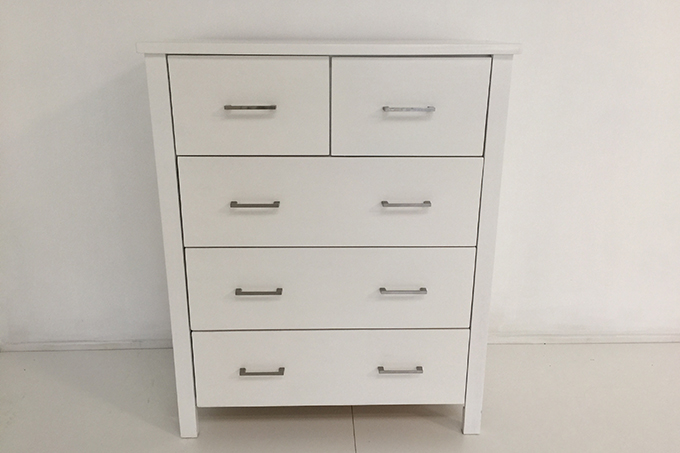 Tina Solid Wood Tall Boy Drawers White