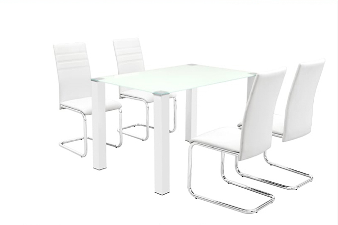 Bessie Tempered Glass Dining Table And Chairs Furniture Bazaar Nz Auckland Furniture Clearance