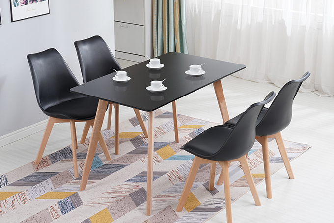Sonia Dining Set 5pcs 1 2m Black Or White Colors Furniture Bazaar Nz Auckland Furniture Clearance
