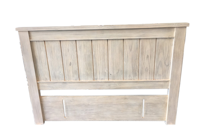 Ballman Solid Wood White Wash Headboard, Whitewash Bedroom Furniture Nz